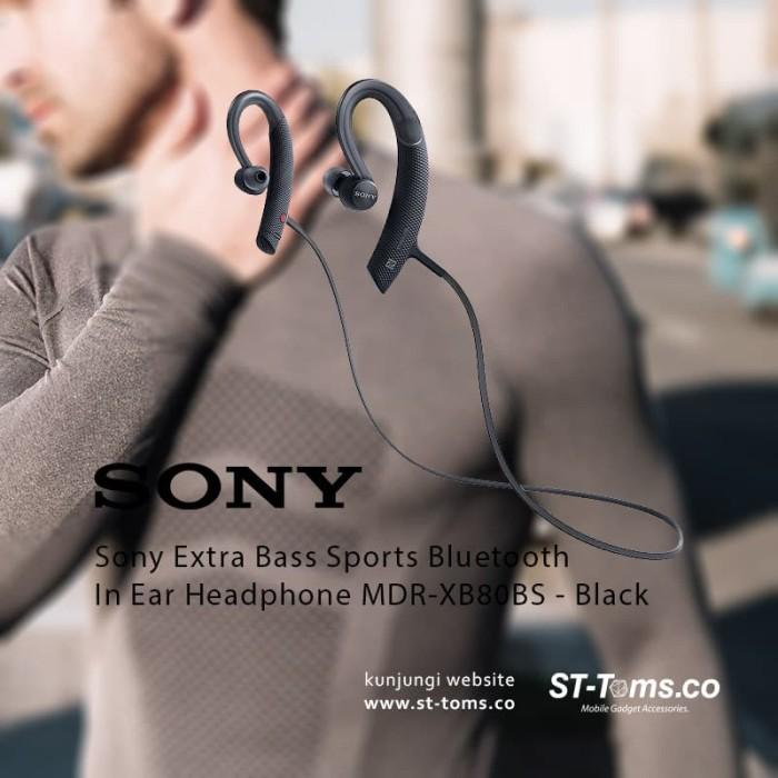 harga Sony mdr xb80bs / xb80bs bass sports bluetooth in ear headphone hitam Tokopedia.com