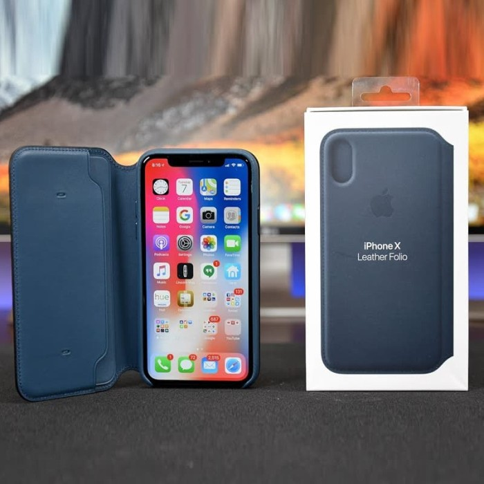 new products 31e18 e8787 Jual iPhone X ORIGINAL FOLIO LEATHER CASE Hybrid Hard Flip Case Casing 10 -  Hitam - Jakarta Barat - StudioA Apple Original   Tokopedia