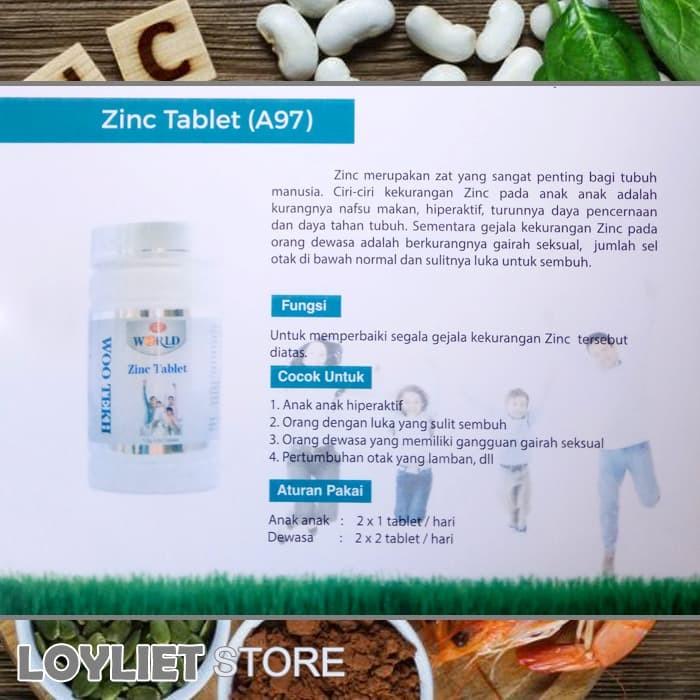 Jual Zinc Tablet Woo Tekh 100 Ori Penggemuk Loyliet Store Tokopedia