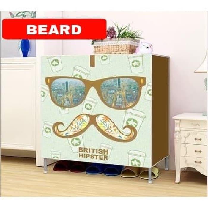 harga Beard rak sepatu motif susun / lemari sepatu sanda dengan penutup Tokopedia.com