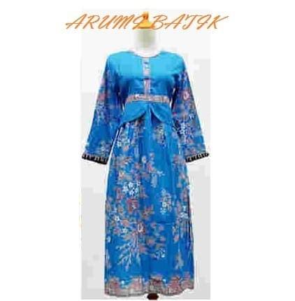 Jual Gamis Long Maxi Dress Baju Muslim Muslimah Anak Batik 1520