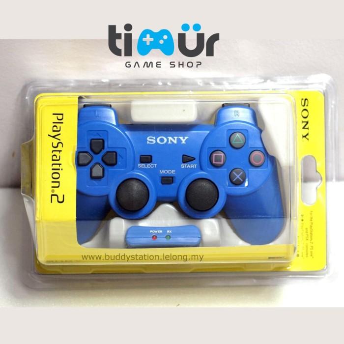 harga Stik stick ps2 wireless ori original pabrik biru Tokopedia.com