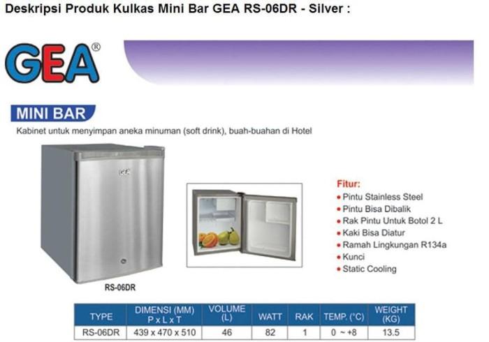harga Gea rs-06dr kulkas mini bar portable rs06 rs 06, promo, garansi resmi Tokopedia.com