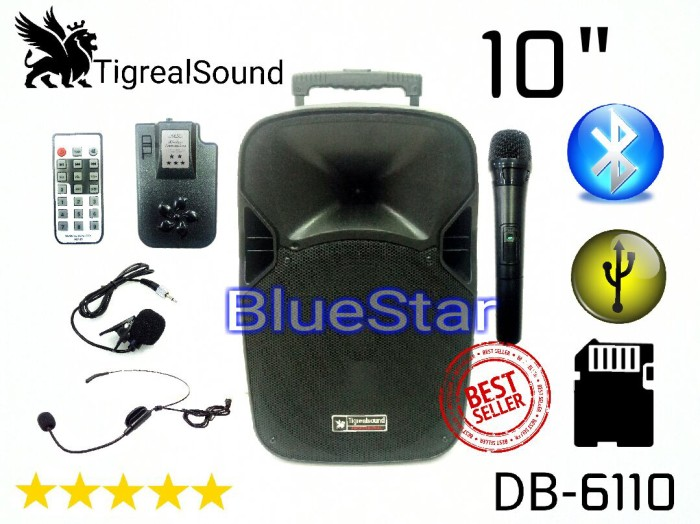 harga Speaker portable amplifier wireless tigrealsound db 6110 - 10 inch Tokopedia.com