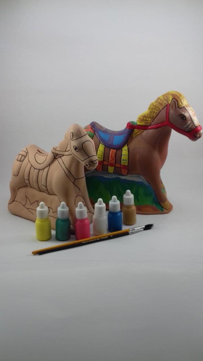 Jual Mainan Edukasi Kreatif Anak Mewarnai Celengan Keramik Kuda Poni Kota Bandung Eduplay Tokopedia