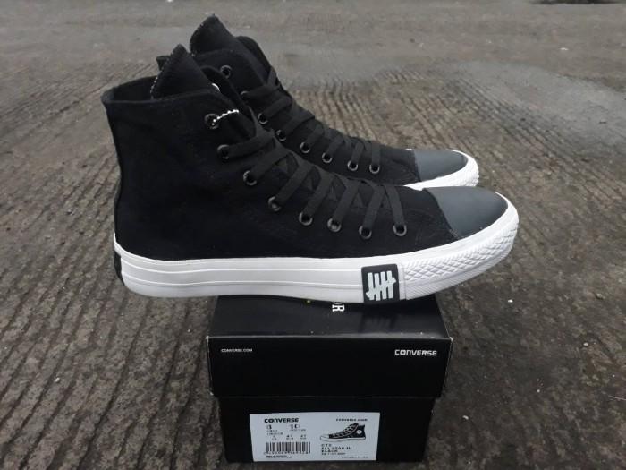 Sepatu converse all star hi undefeated black white import 66a1e8a6bd