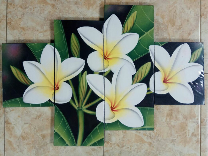 harga Lukisan panel bunga kamboja putih bali Tokopedia.com