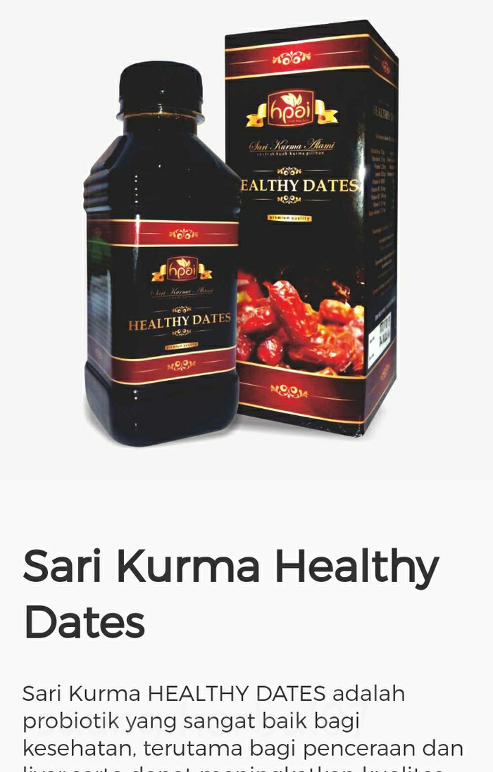 Jual Sari Kurma Healthy Dates Adalah Probiotik Alami Kab Bogor Saung Herbal07 Tokopedia