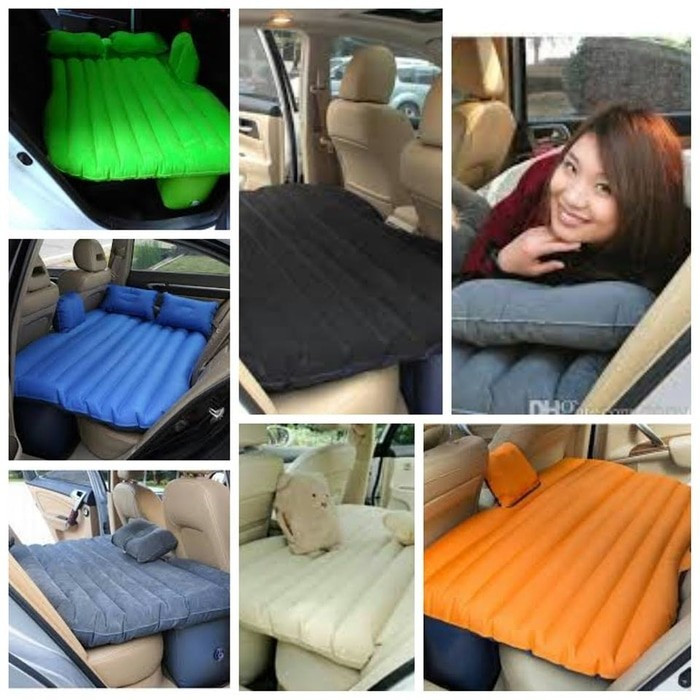 harga Kasur bed matras tempat tidur mobil air bed plus bantal biru tua  ab01 Tokopedia.com