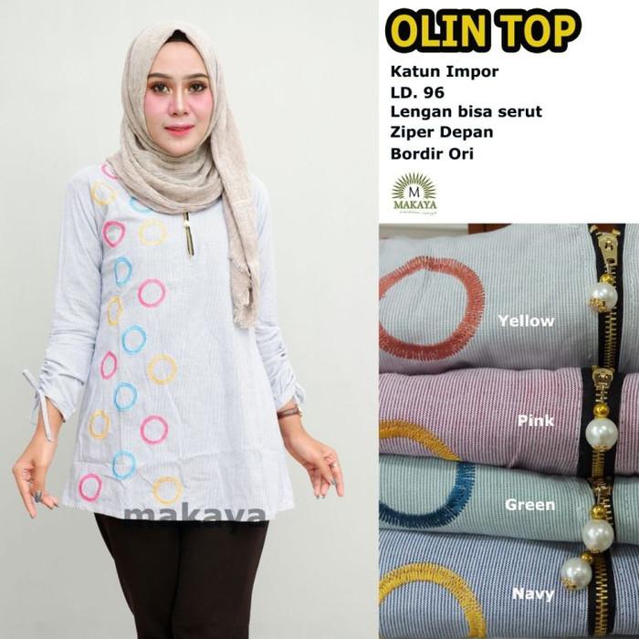 Baju wanita blouse tunik olin top muslim modern lucu unik trendi 3fb0c6e671
