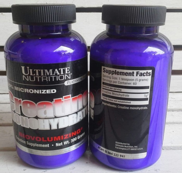 Ultimate Nutrition Creatine Monohydrate 120Gr. Source · Ultimate Nutrition Creatine 300 gr / 300 g