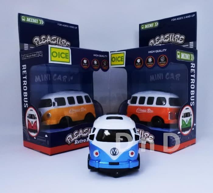 harga Mainan anak - pleasure retro bus mini car mobil vw combi musik lampu Tokopedia.com