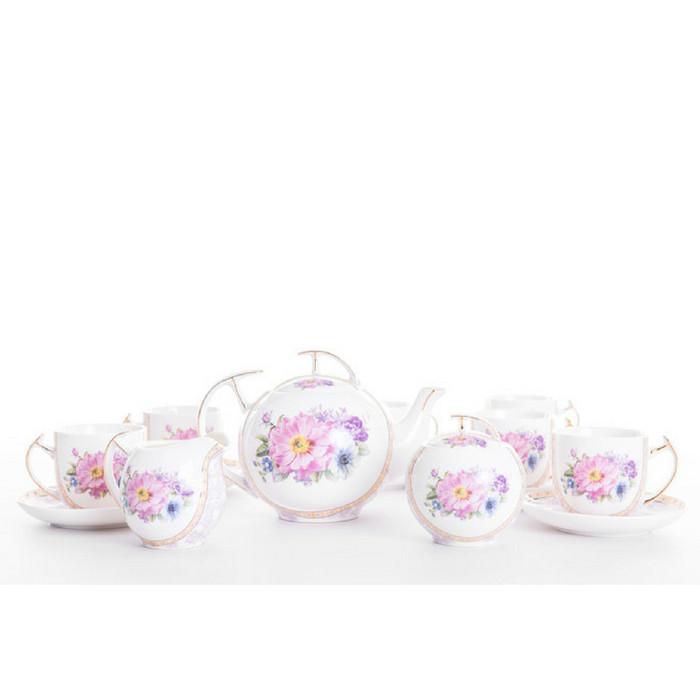 17 pcs tea set capodimonte