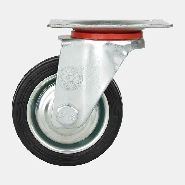 harga Roda 8   / roda gerobak / roda troli / trolley  (berputar) rubber Tokopedia.com