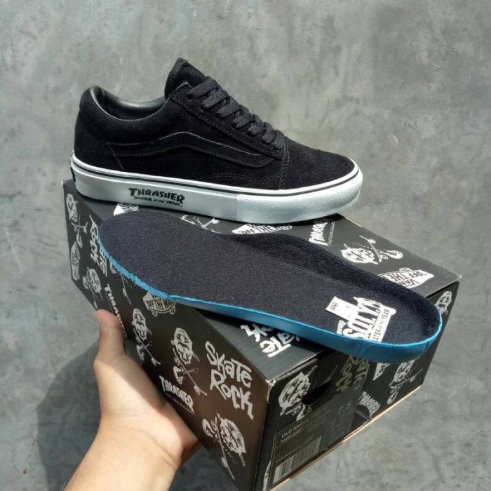 Jual Sepatu Vans Old Skool X Thrasher SOTY Skater Of The Year Black ... d6ed4013d