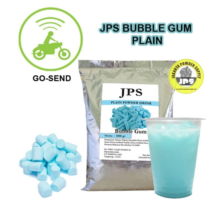 Bubuk JPS Bubble Gum Plain 1 Kg