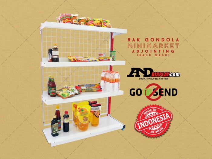 harga Rak minimarket joint single t.180cm s 25cm bmess supermarket gondola Tokopedia.com