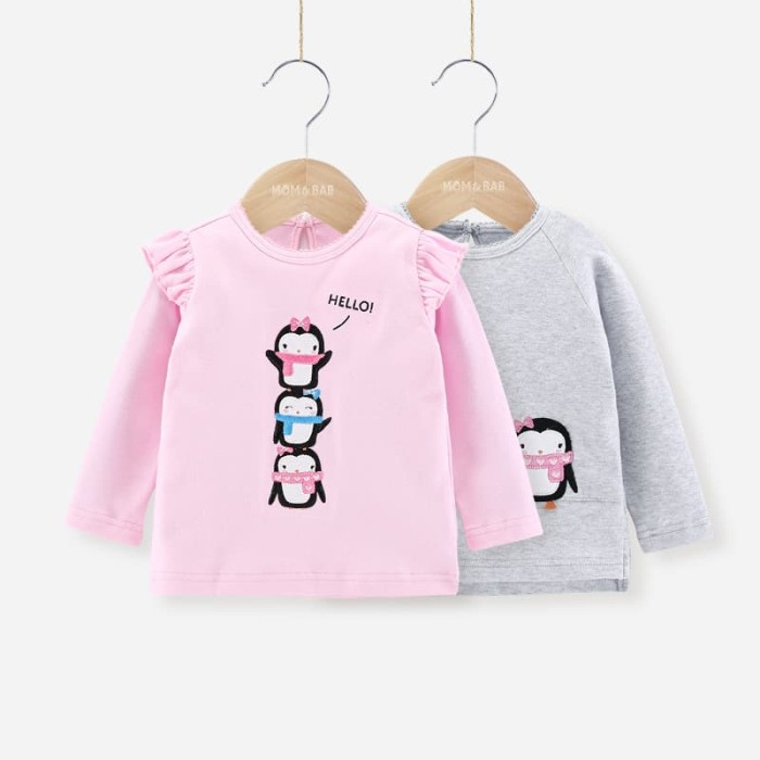 harga Kaos anak | mom n bab ltee 2in1 pink pinguin Tokopedia.com
