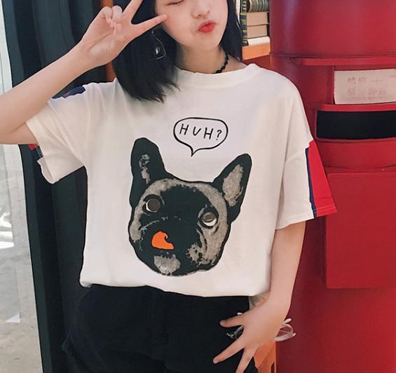 harga Kaos t shirt tees french bulldog dog anjing blouse putih oversized Tokopedia.com