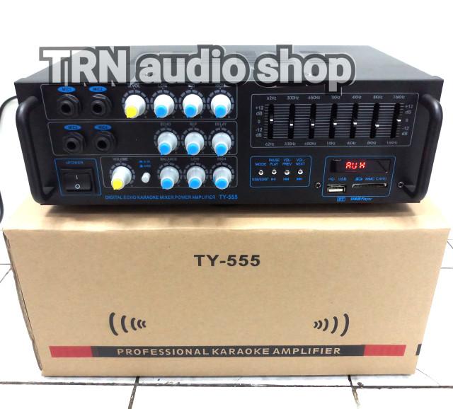 harga Amplifier mixer  karaoke  ty 555 bluetooth equaliser Tokopedia.com