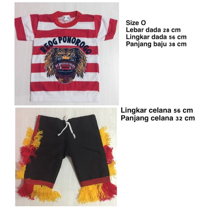 harga Size o - setelan baju reog ponorogo anak - baju reog ponorogo Tokopedia.com