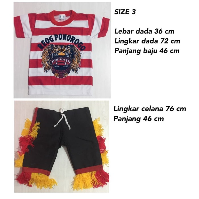 harga Size l - setelan baju reog ponorogo anak - baju reog ponorogo Tokopedia.com