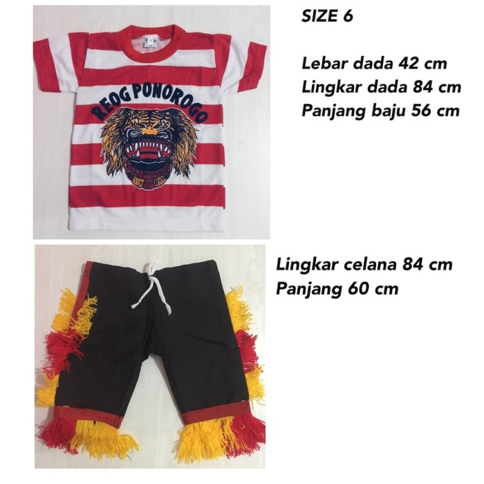 harga Size xxxl - setelan baju reog ponorogo anak - baju reog ponorogo Tokopedia.com