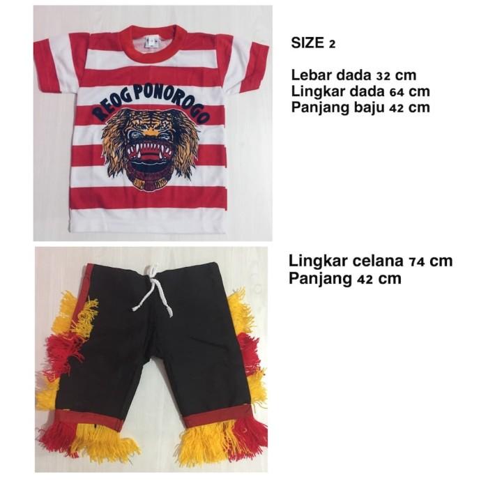 harga Size m - setelan baju reog ponorogo anak - baju reog ponorogo Tokopedia.com