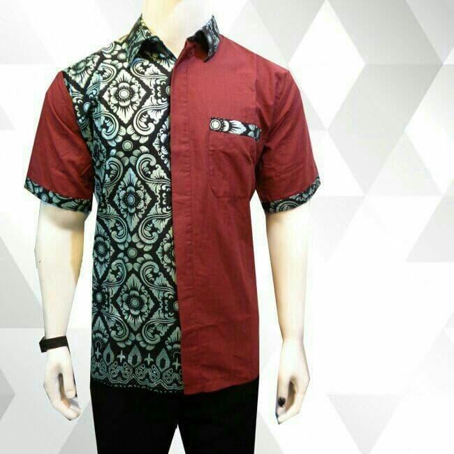 Batik Pria Pekalongan: Jual Baju Batik Pria/Kemeja Batik/Hem Batik Merah