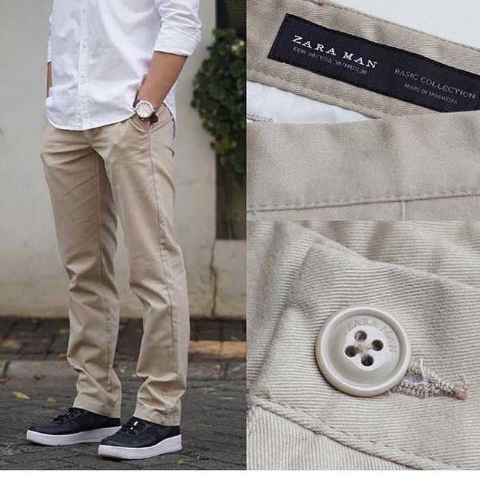 harga Chinos pants zara basic original / celana chino pria ori branded zr13 Tokopedia.com