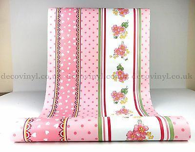 Foto Produk shabby chic pink 45 cm x 10 mtr || Wallpaper dinding dari dedengkot wallpaper