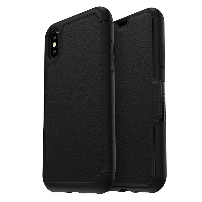 harga Otterbox iphone x case strada leather  - shadow (black / pewter) Tokopedia.com
