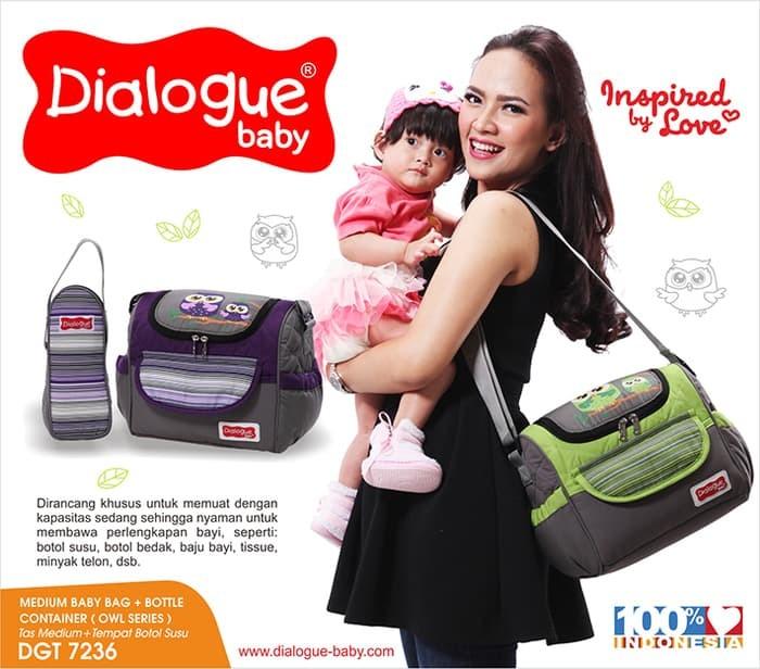 Foto Produk Dialogue Baby Tas Sedang Perlengkapan Bayi Owl Series DGT-7236 - Ungu dari Zahrafa Baby Kids