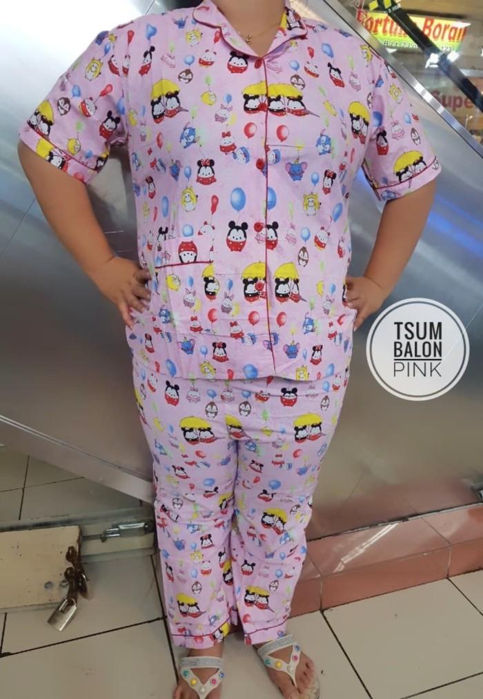 harga Setelan piyama celana panjang jumbo xxl dewasa wanita tsum bj tidur Tokopedia.com