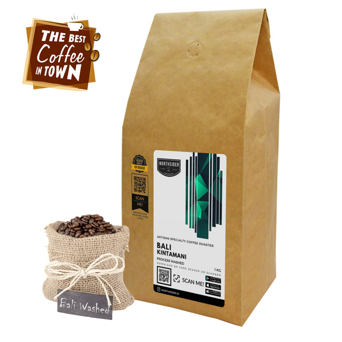 Biji kopi arabika bali kintamani washed - northsider coffee 1kg