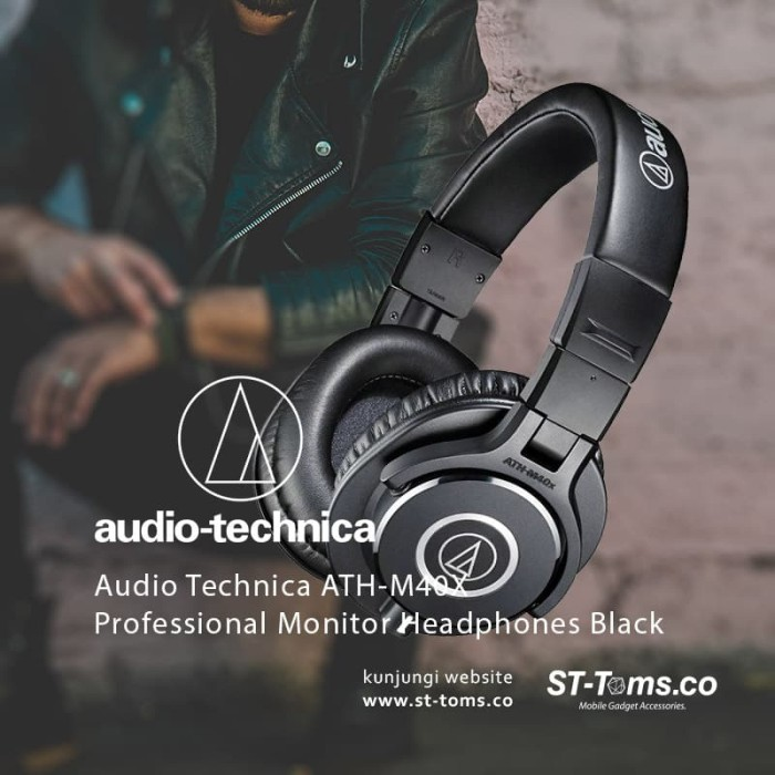 harga Audio technica ath-m40x professional monitor headphones - hitam Tokopedia.com