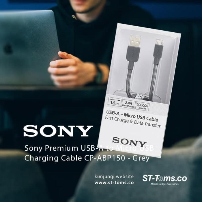 harga Sony premium usb-a to micro usb charging cable cp-abp150 - grey Tokopedia.com
