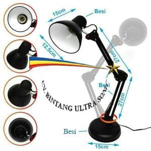 Lampu Meja / Lampu Belajar / Desk Lamp Model Arsitek 3in1