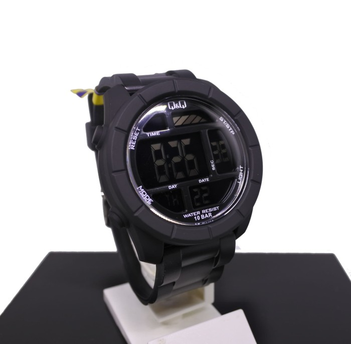 harga Q&q qq digital jam tangan pria hitam m123j001y original Tokopedia.com