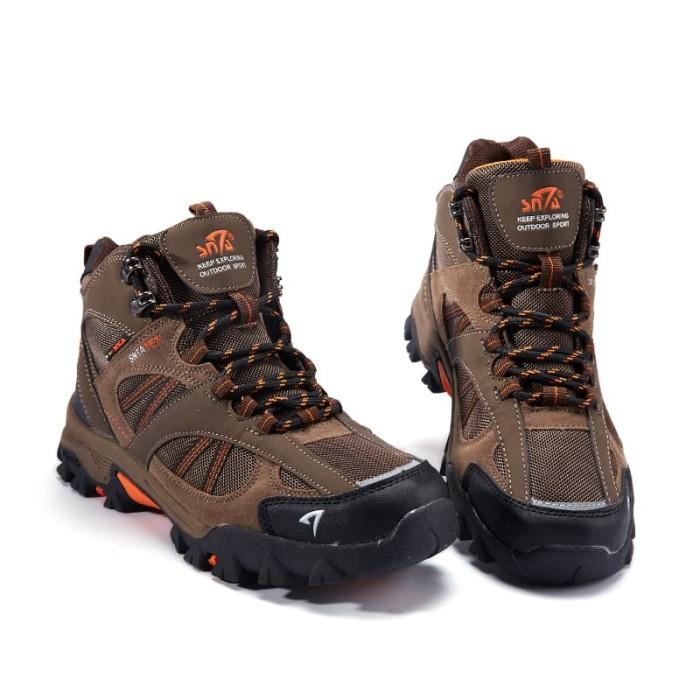 harga Sepatu gunung snta 481 series boots brown orange - sepatu outdoor high Tokopedia.com