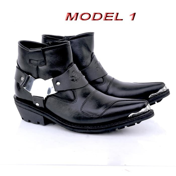 ... harga Sepatu boot boots casual bikers touring cowboy pria kulit ga100  Tokopedia. 66d1e7da21