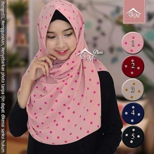 harga Jilbab hijab instan bergo syria pashmina instan pastan pet polkadot Tokopedia.com