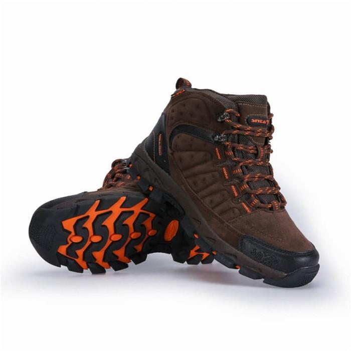 harga Sepatu gunung snta 483 brown orange semi waterproof hiking outdoor Tokopedia.com