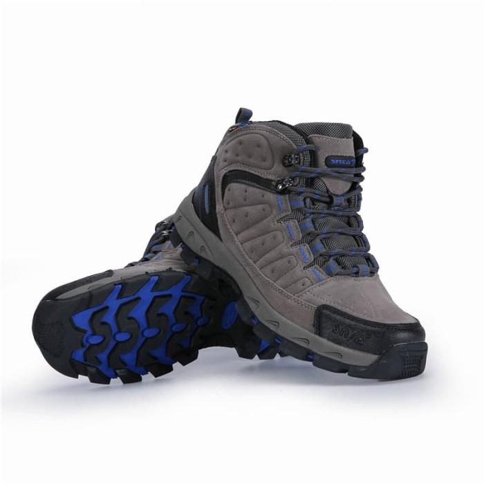 harga Sepatu gunung snta 483 grey blue semi waterproof hiking outdoor Tokopedia.com