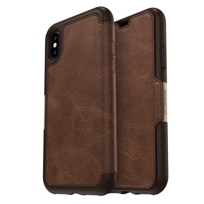 harga Otterbox iphone x case strada leather - espresso ( dark / worn brown) Tokopedia.com