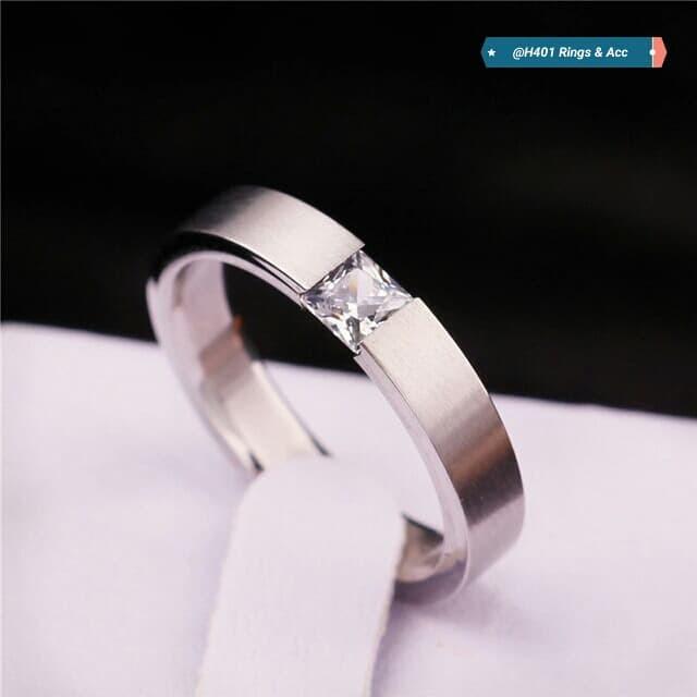 harga Cincin titanium silver with octagonal sircon diamond Tokopedia.com