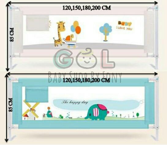 harga 200cmx85cm bed rail bedrail pengaman pembatas pagar kasur ranjang bayi Tokopedia.com