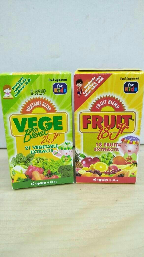 Vegeblend 21 junior dan fruit 18jr @ isi 60