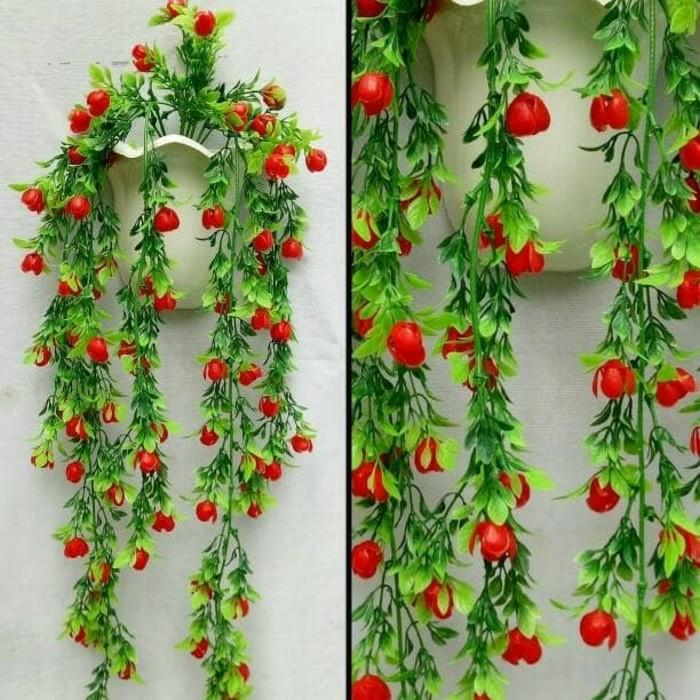 Bunga Hias Dinding Hiasan Rumah Plastik Vas