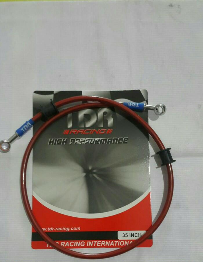 Kabel Selang Rem Depan TDR 35inch / 90cm Merah _A